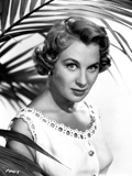Mai Zetterling Posed in White Dress with Short Curly Hairstyle Photo by  Movie Star News
