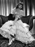 Mary Martin on a Ruffled Gown sitting Portrait Photo by  Movie Star News
