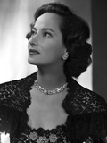 Merle Oberon on Embroidered Top Photo by  Movie Star News
