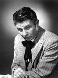 Jim Davis Posed in Stripe Suit Photo by  Movie Star News