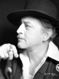 John Barrymore Smoking in a Close Up Portrait Photo by  Movie Star News