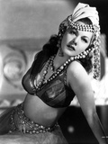 Maria Montez Posed in Lingerie with Pearl Headdress Photo by  Movie Star News