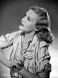 Madeleine Carroll Looking Up in Stripes Blouse Portrait Photo by  Movie Star News