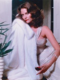 Lesley Warren Portrait in White Fur Dress Photo by  Movie Star News