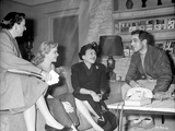 On the set of Susan Slept Here Photo by  Movie Star News