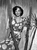 Marie Windsor Posed in Floral Dress with a Smile Photo by  Movie Star News