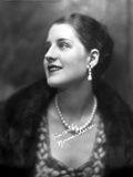 Norma Shearer Portrait in Classic with Necklace Photo by  Movie Star News