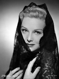 Madeleine Carroll Posed in Black Dress with Black Veil Photo by  Movie Star News