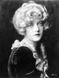 Marion Davies Posed in Black with White Collar Photo by  Movie Star News