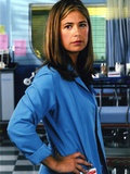 Maura Tierney Posed in Blue Coat Photo by  Movie Star News