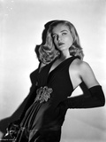 Lizabeth Scott Posed in Black Dress with Gloves Photo by  Movie Star News