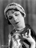 Leatrice Joy on Headband with Sequin in Black and White Portrait Photo by  Movie Star News