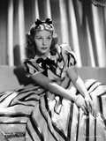 Martha Raye Portrait in Black and White Stripe Dress Photo by  Movie Star News
