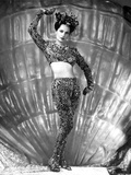 Merle Oberon on a Printed Long Sleeve Midriff Photo by  Movie Star News