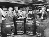 Marx Brothers Scene With Four Men Hiding in a Barrel- Photograph Print Photo by  Movie Star News