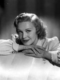 Madeleine Carroll Chin Leaning on Head, wearing White Blouse Photo by  Movie Star News