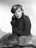 Madeleine Carroll Looking away in Black Suit with Hat Photo by  Movie Star News