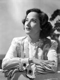 Merle Oberon on a Long Sleeve Top Kneeling Photo by  Movie Star News