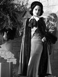 Merle Oberon Posed in Furry Coat with Ribbon Photo by  Movie Star News