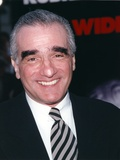 Martin Scorsese Close-up Portrait smiling in Black Suit with Tie Photo af Movie Star News