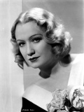 Miriam Hopkins on a V Neck Dress Portrait Photo by  Movie Star News