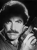 Magnum Pi Close Up Portrait with Pistol Photo by  Movie Star News