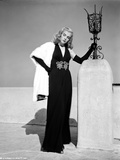 Lizabeth Scott Posed in Long Black Gown with Gloves Photo by  Movie Star News