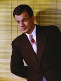 Joseph Cotten wearing Black Suit with Necktie Photo by  Movie Star News