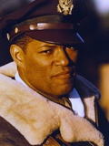 Laurence Fishburne in Fur Coat with Army Cap Portrait Photo by  Movie Star News