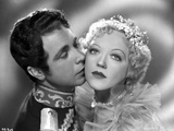 Marion Davies Kissed By A Man in Prince Outfit in Black and White Photo by  Movie Star News