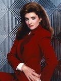 Morgan Brittany Posed in Red Coat Photo by  Movie Star News