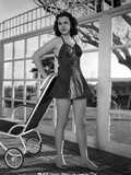 Jane Withers Posed in Black Linen Strap Dress with Short Skirt Photo by  Movie Star News