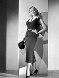 Lizabeth Scott Posed Black Dress with Heels Photo by  Movie Star News