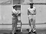 Mister Roberts Two Sailors Talking in Black and White Photo by  Movie Star News