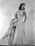 Mary Martin on an Embroidered Dress sitting and Leaning Portrait Photo by  Movie Star News