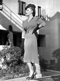 Martha Raye wearing Trench Coat in Black and White Photo by  Movie Star News
