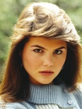 Lori Loughlin wearing a Knitted Blouse and Red lipstick Photo by  Movie Star News