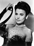 Lena Horne Leaning wearing a Black Gown with Long Gloves Photo by  Movie Star News