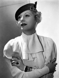 Lilyan Tashman Leaning on Dress with Cap and Ring Photo by  Movie Star News