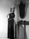Lizabeth Scott Posed in Long Black Gown Photo by  Movie Star News