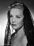 Madeleine Carroll Looking Away in Black Dress with Net Veil Photo by  Movie Star News