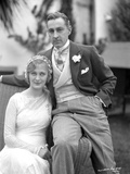 John Barrymore Seated on Arm Chair Photo by  Movie Star News