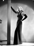 Lizabeth Scott Posed in Long Dress Gown Photo by  Movie Star News