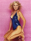 Lydia Cornell Ducking in Blue Swimsuit Photo by  Movie Star News