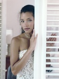 Michael Michele standing in Dress Portrait Photo by  Movie Star News
