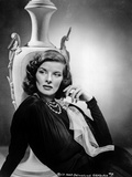 Katharine Hepburn wearing Black Fit Gown Portrait Photo by  Movie Star News