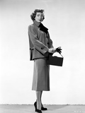 Marie Windsor Posed in Formal Dress with Bag Photo by  Movie Star News