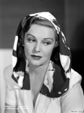 Madeleine Carroll Looking Don in Blouse with Black and White Scarf on Her Head Photo by  Movie Star News