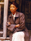 Natalie Cole Crossed Arms in Black Coat Photo by  Movie Star News