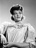 Marjorie Lord on Lace Ruffled Top sitting and posed Photo by  Movie Star News